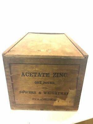 Powers Weightman Philadelphia Box Antique Quack Medicine Apothecary Pharmacy