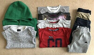 Toddler Boys Clothes Bundle NEXT Jumper, H&M, TU GEORGE F&F Trousers 2 - 3 years