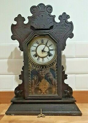 Waterbury Gingerbread Pendulum Clock Circa 1890'S Made In Usa Spares Or Repairs