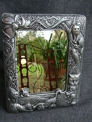 Vintage Arthur Court Cats & Kittens Mirror or Picture Frame for 4 X 5 Photo EUC