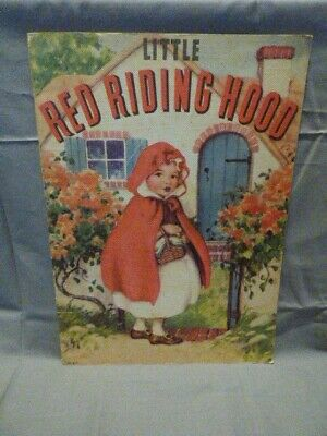 Vintage 1937 Little Red Riding Hood Book Whitman Publishing # 917