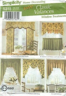 CUTE CHILDREN/'S 5 STYLE VALANCES /& SHADES PATTERN  OZ  FF SIMPLICITY #7630