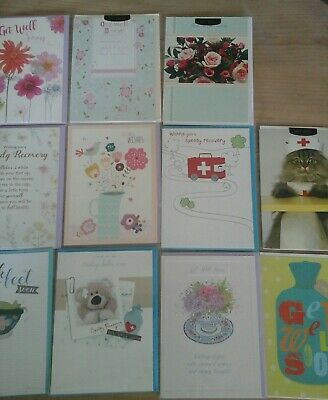 25 Get Well Cards, Wholesale Joblot Greeting Cards