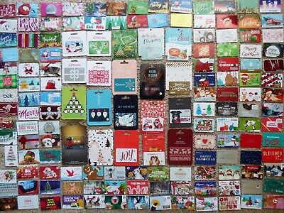 Gift Card Collection Christmas - LOT of 167 Diff - Collectible - Each Pictured