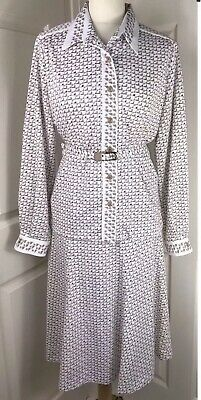 Vintage 2 Piece Suite Size 18 Blouse & Skirt 1970s Secretary Office