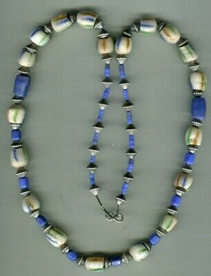 African Trade beads old Ghana Krobo sandcast or powder glass necklace mix