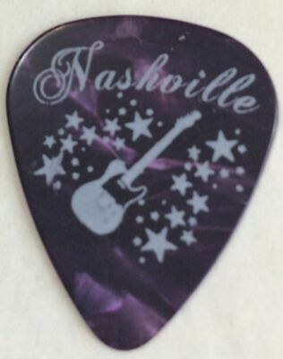 Nashville (4) Purple With White Guitar And Stars Pick Souvenir Gift Favor Bags