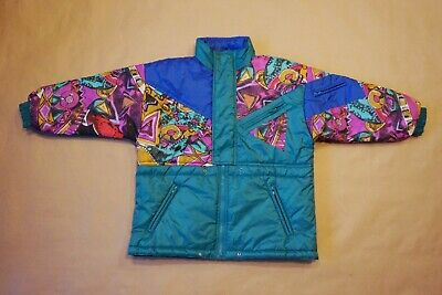Kids true vintage SKI Oui winter jacket 134 cm 9 years girls boys 80s 90's shell