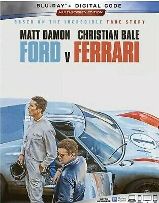 Ford V Ferrari(Blu-Ray+Digital)W/Slipcover New Factory Seal