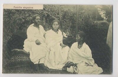 FAMILLE ABYSSINE - Gros plan - Edition J. A. Michel à Addis Ababa - Ethiopie