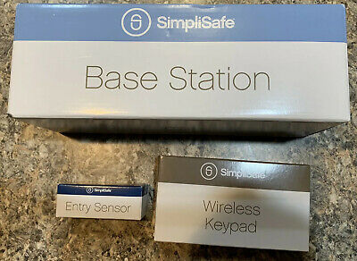 Simplisafe Security System, 1500 Base, Key Pad And Entry Sensor