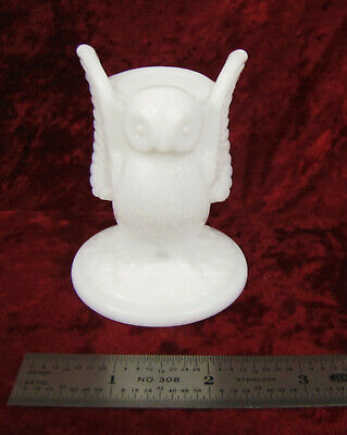 Vtg Collectible Westmoreland Milk Glass Owl Toothpick Holder Made In The U.s.a.