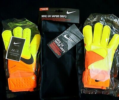 Nike Vapor Grip 3 Orange/Volt Top Soccer Goal Keeper Gloves sizes from 6 to 10