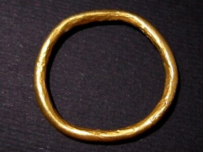 Extremely Rare Solid 24K. Gold Celtic Ring Money Piece+++