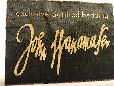 John Wanamaker Dept Store Mattress Label Price Tag Advertising Vintage Ephemera