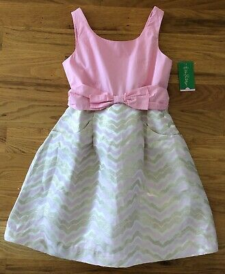 NWT Lilly Pulitzer Girls Pink Jacquard Party Dress Size 8 Easter Wedding New