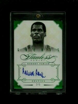 Robert Parish 2012-13 Flawless Greats EMERALD Auto #/5! ON-CARD! Celtics LEGEND!