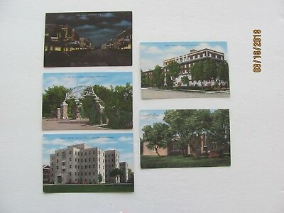 Jamestown North Dakota Lot Of 5 Postcards Post Cards Park/Hospital/First Avenue