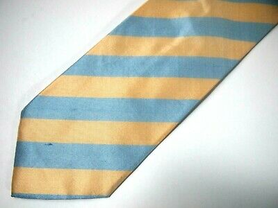 Hugo Boss Baldessanini Mens Necktie Tie Blue Beige Striped Textured Italy 57""