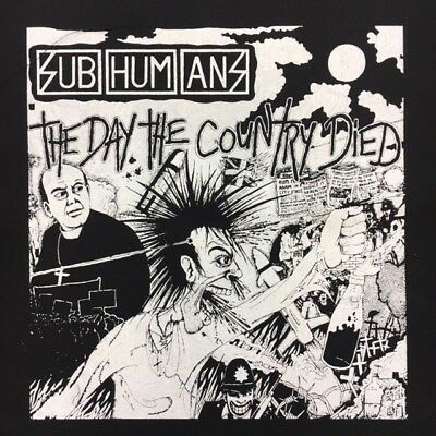 Subhumans Worlds Apart Punk Band Back Patch NEW Crust Oi British 1980s Citizen F