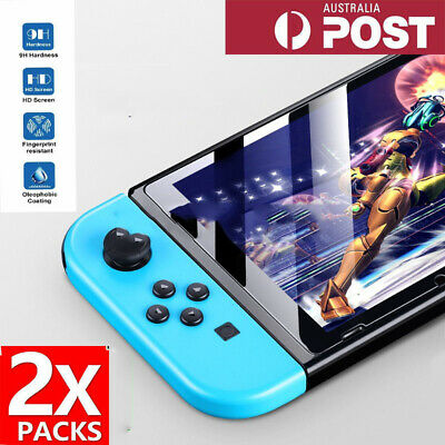 2x Tempered Glass Screen Protector For Nintendo Switch