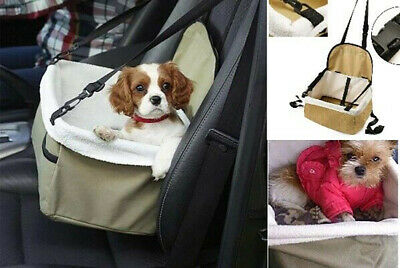 Pet Carrier Dog Cat Car Booster Seat Crate Portable Cage Travel Bag Basket