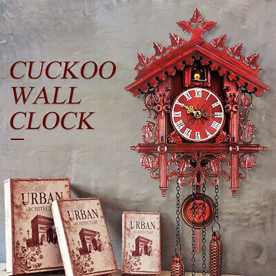 2019 Style Handcraft Forest Clock Wood Cuckoo Clock Swing Wall Home Decor Gift