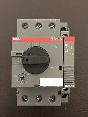 ABB MS116 Manual Motor Starter With Side (HK1-11) Mounted Auxiliary
