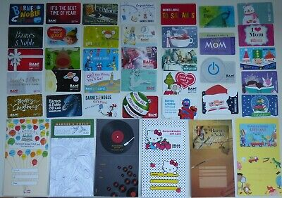 BAM! & Barnes & Noble Books Gift Cards / Collectible - LOT of 40 Diff -No Value