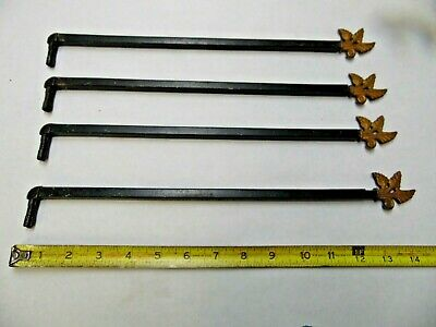 Vintage Drapery/Curtain Swing Arm Decorative Rods Lot/Set of 4 no Wall Brackets
