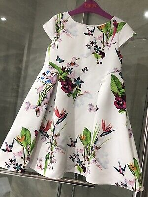 Baker By Ted Baker Girls Floral Dress 3-4years Excellent Condition