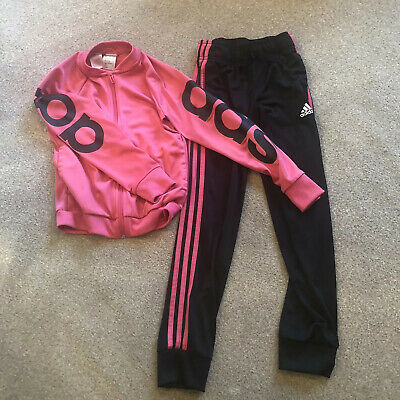 girls adidas tracksuit Age 9-10 Pink And Black