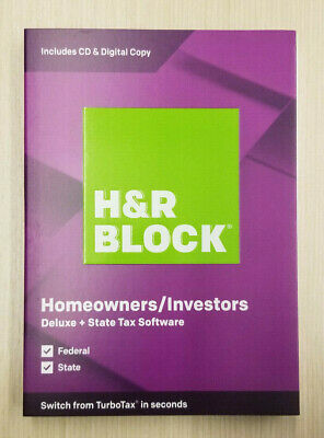 H&R BLOCK DELUXE + STATE 2019 TAX SOFTWARE Brand New Sealed Ships Fast 3 Day !!