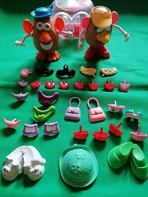 Mr & Mrs Potato Head Bundle With Accessories Playskool Toys silly suitcase