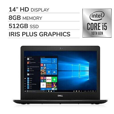 "Dell Inspiron 2020 Premium 14"" HD Laptop Notebook Computer, 4-Core 10th Gen I..."