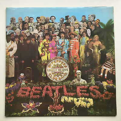 "The Beatles ""Sgt Pepper"" Uk Mono Press Red & White Inner,Cut Outs, Stamps1 & 2"