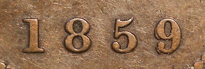 "1859 Scarce D/P 9 # 2 Large Canadian Cent  Haxby PC59-5 G4+E3a ""HAVE A LOOK""!!!!"