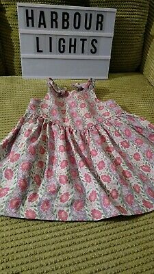 Girls Laura Ashley Retro Vintage Mother And Child Cotton Dress Age 12 Months 1Yr