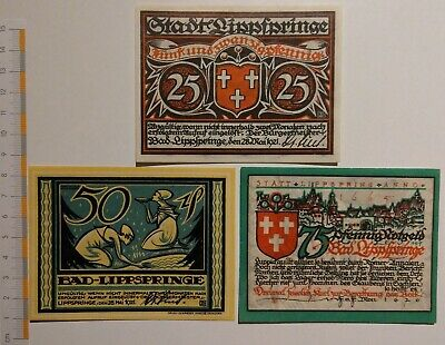 Views of the Rhein complete Set 8 Notes UNC 8 x german Notgeld Bad Honnef