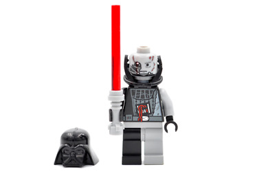 LEGO Star Wars Minifigure Battle Damaged Darth Vader & Lightsaber 7672 *New*Rare