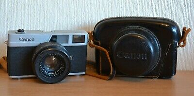 Vintage Canon Canonet 35mm Film Camera with 45mm 1:1.9 Lens