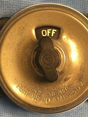antique porcelain electrical switch, rotary light switch, Perkins