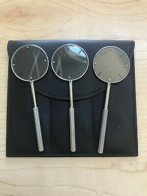 3 Jackson Cross Cylinders w/ Soft-Sided Case - 0.50 / 0.75/ 1.00 - Handheld