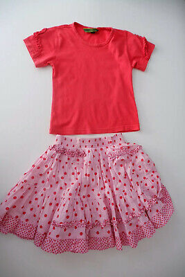 Oilily Outfit Set  Top & Skirt Size 104 Age 4-5 Years Short Sleeve Girls