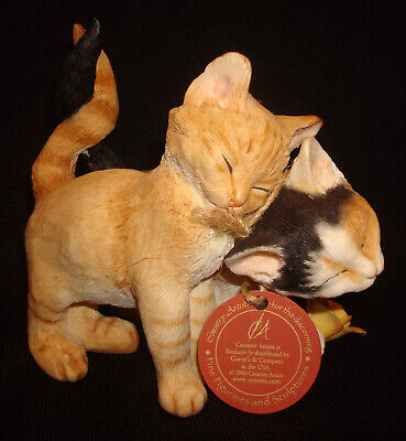 Country Artists Hand Painted Crafted USA CA02825 Romantic Tales Cat Figurine