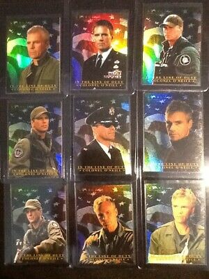 Stargate SG1 Colonel O'Neill Complete Set of 9...RARE from Archive Box!!!