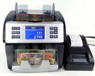 "AUSCOUNT AUS1000 ""THE BOSS "" MONEY COUNTER  money counting machine W PRINTER"
