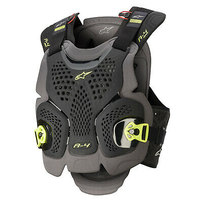 Alpinestars A-4 Max Mens Body Armour Chest Protection - Black Anthracite Yellow