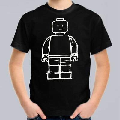 Lego Man Kids T-Shirt, Children Pop Culture Tee Size 0-16