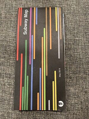 NYC Subway Map May 2019 Official Latest LIRR WTC New York City Free Shipping!